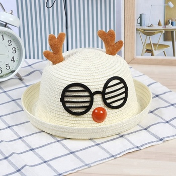 2018 hot selling children adult straw boater hat custom summer kids straw  beach bowler hat with b0f67689a66