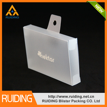 manufacturer PP/PET/PVC/PS charger plastic packaging box