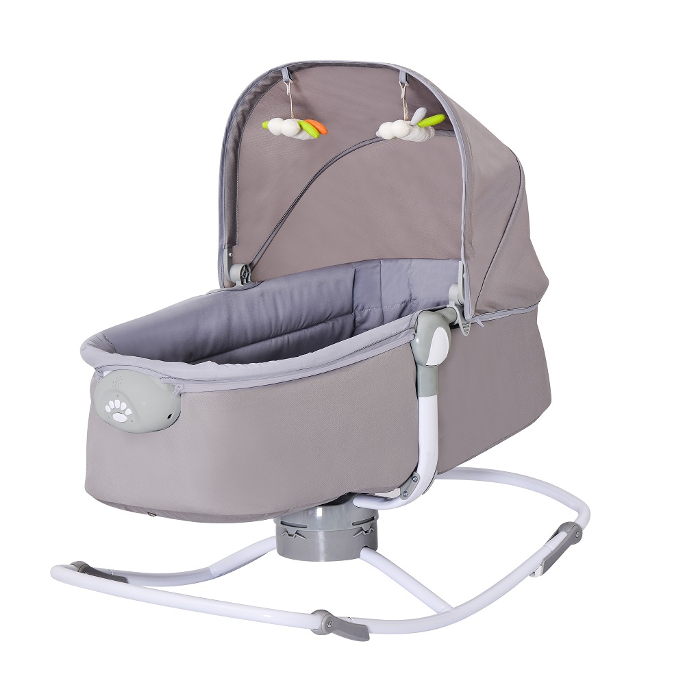 Electric Toddler Rocker Baby Napper Cradle baby crib bed bedroom furniture with Music and plush toys Vibration