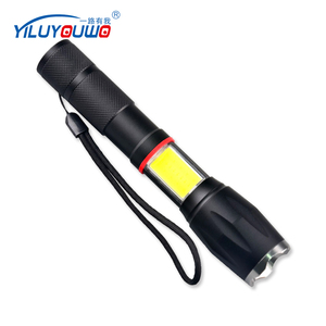 New Product Magnetic Telescopic Zoom Aluminum Strong Tactical Recharge Red COB LED Torch Light With XML T6 LED For Camping