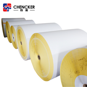 Factory sale self adhesive woodfree paper blank sticker rolls