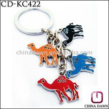 Cute design fashion shape zinc alloy camel keychain