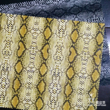 Wholesale fabric snake skin embossed synthetic leather for clothing