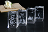 Wholesale Customized Blank 3D Laser Engraved k9 Crystal Block or cube for for Engraving Souvenir Gifts