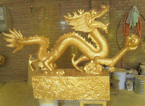 Best quality decor chinese large brass dragon sale