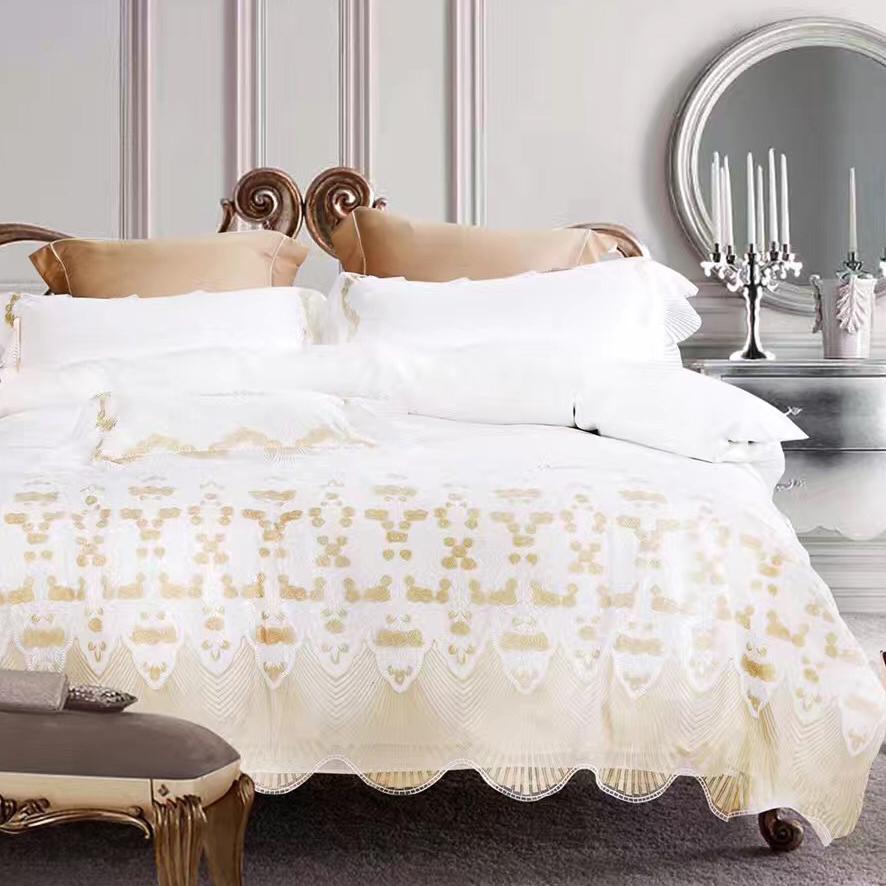 online kaufen gro handel wei spitze bettw sche aus china wei spitze bettw sche gro h ndler. Black Bedroom Furniture Sets. Home Design Ideas