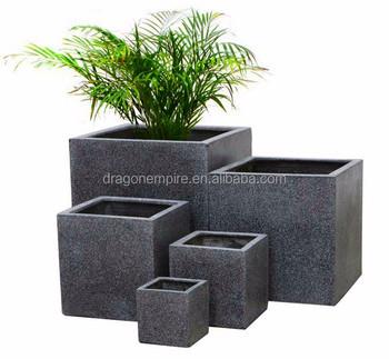 grande gris concret maceta gris hormign plantadores cuadrados gris hormign jardineras