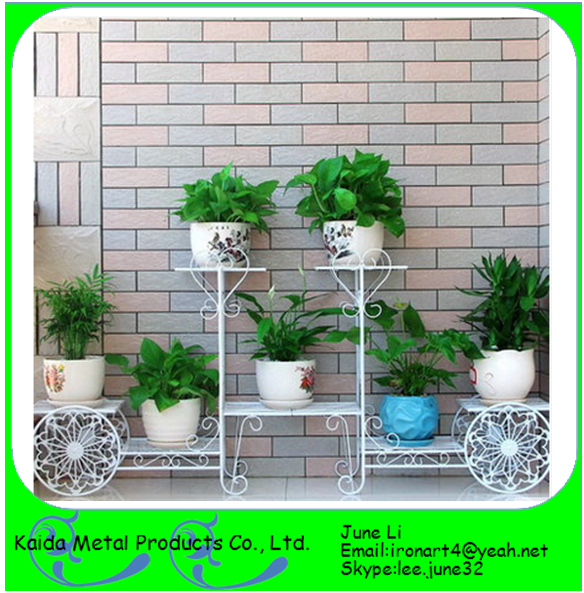 New Wrought Iron Bicycle Garden Basket Flower Pot Holder