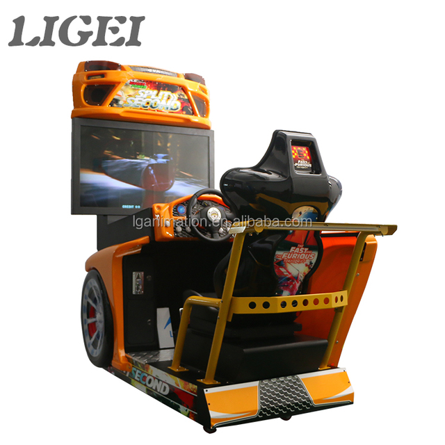 Electronic indoor coin operated screen 3D graphics india simulator racing car sonic arcade game machine