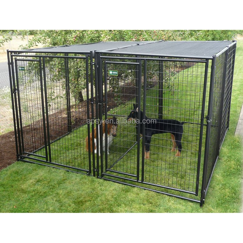 outdoor powder coated dog kennel large dog cages for sale