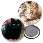 35mm round with custom cat design decoration for home crystal magnet glass magnet