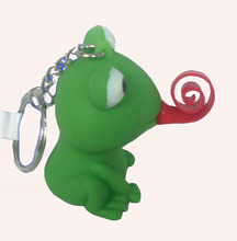 rubber frog key chain