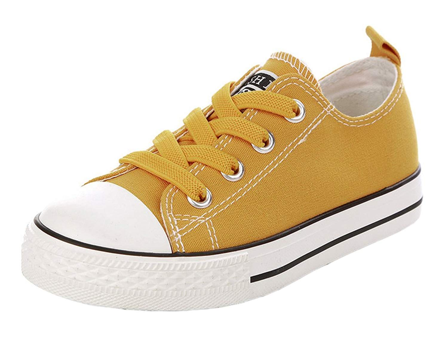 iDuoDuo Kid Boys Girls Classic Low Top Solid Color Easy School Canvas Shoes (Toddler/Little Kid/Big Kid)