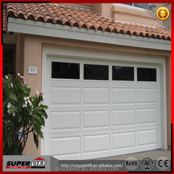 Sectional Insulated 9x8 Garage Door With Good Windstorm Resistant