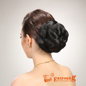 Synthetic braided chignon hair padding pieces bun accessories China