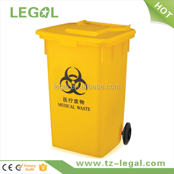 Medical Waste Bins With Wheels With Lid Garbage Bin/trash Can ...