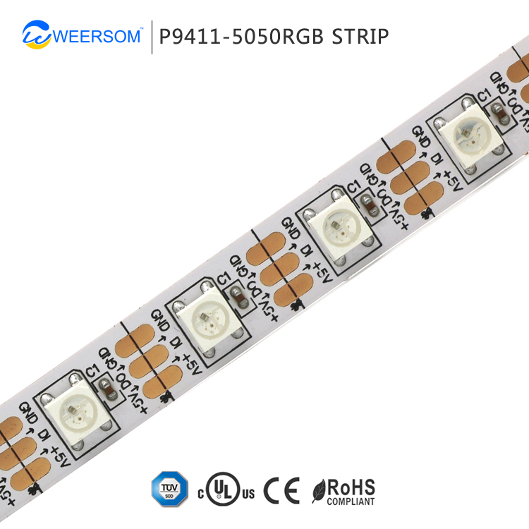 pixel 5v individually control programmable strip ws2818b addressable rgb led strip