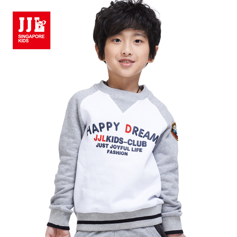 Boys Sweatshirt Kids Fall Clothes Junior Sweatshirts Vintage British Style 3 16Y