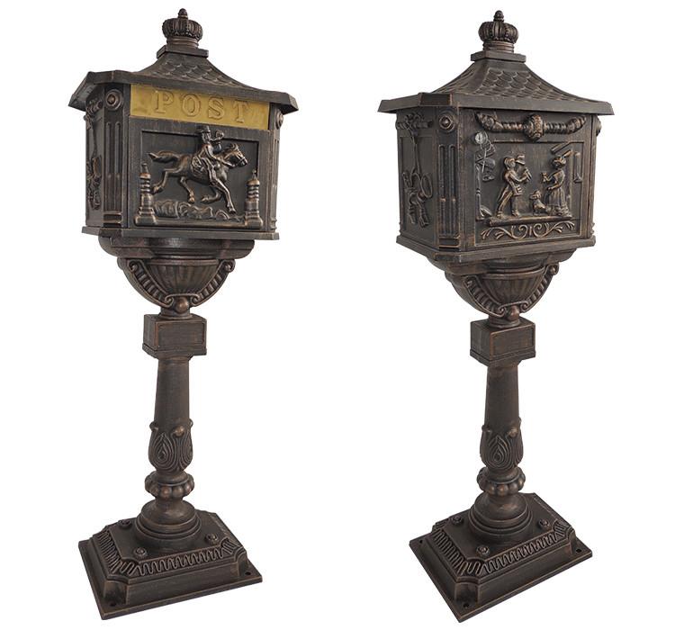 vertical pedestal apartment die cast aluminium lockable mailboxes for sale letterbox - Lockable Mailbox