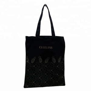 Ginzeal 2018 New Product Eco Women'S Black Canvas Tote Bag