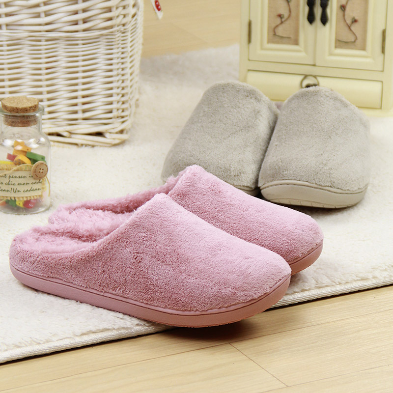 Winter pure colour non-slip waterproof lovers indoor <strong>slippers</strong>