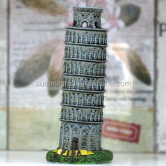 Ontwerper Toren Van Pisa.Scheve Toren Van Pisa Italie Hars Miniatuur Gebouw Model Buy