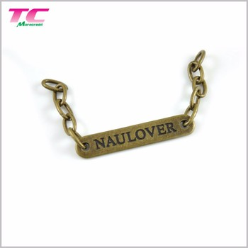 Best Selling Metal Chain Labels And Tags For Clothing Custom Logo Metal Hang Tag Label