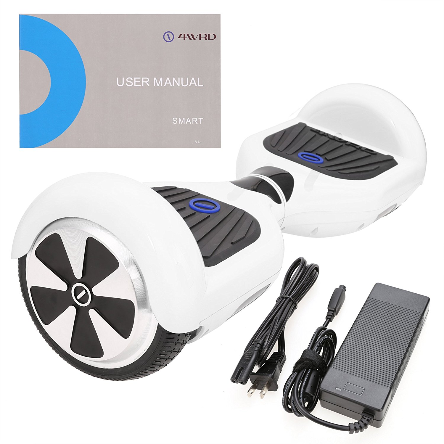 SURFUS Smart S - UL 2272 Certified Hoverboard - Electric Balance hoverboard (White)