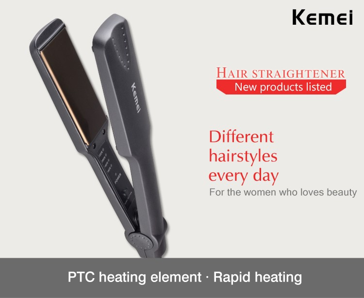 Kemei KM-329 New Flat Straightening Iron Styling Tool Professional Hair Straightener Wholesale