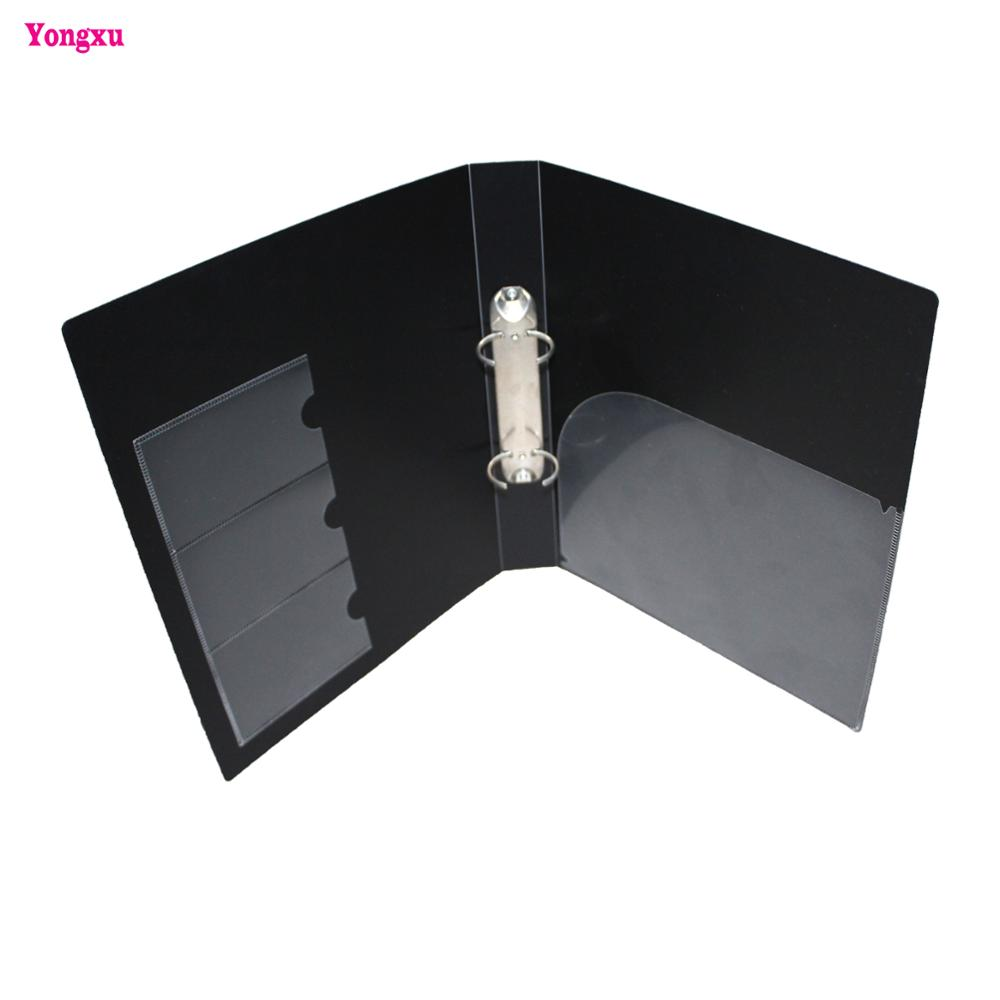 Custom high quality A4 plastic folder 2 hole ring binder folder with metal ring binder