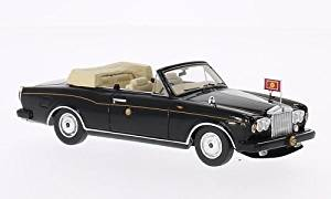 Rolls Royce Corniche III Convertible, black, 1993, Model Car, Ready-made, TrueScale Miniatures 1:43