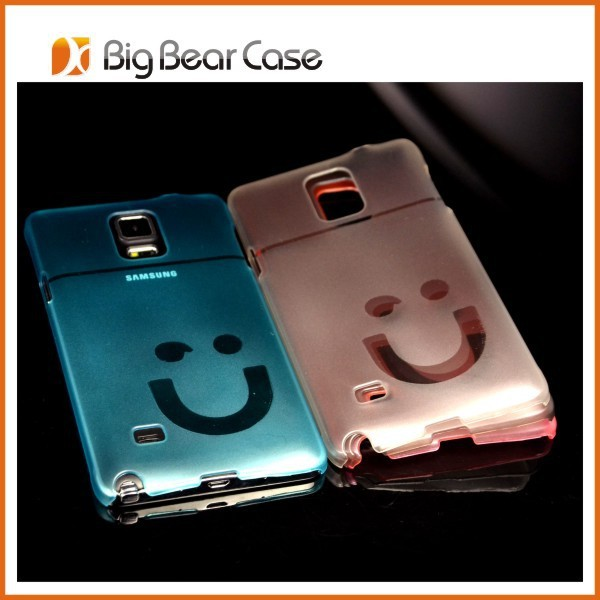 Smile face clear cell phone cover for samsung galaxy grand duos gt-i9082