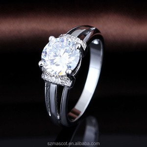 dropshipping cubic zircon stone rough gemstone jewelry accessories parts  ring set