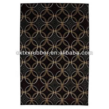 overlapping circles rugrepeat pattern natural rubber flocking kitchen mats