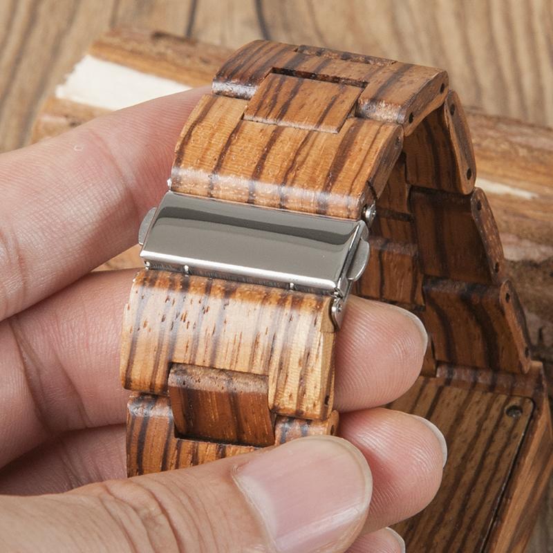 29e6eb21838c 2017 marca relojes para hombre BOBO Ave cebra relojes de madera con madera  de caja de