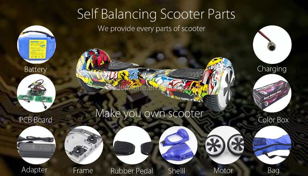 Wholesale DIY Self Balance Electric Scooter 2 Wheel Hoverboard ...