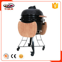 "24"" Custom Cypress Ceramic Kamado Smoker Charcoal BBQ Barbecue Grills with Trolley Cart"