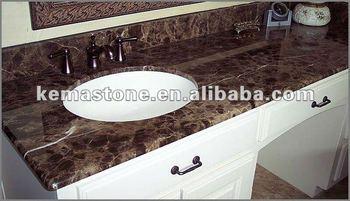 Prefab Emperador Dark Cheap Bathroom Vanity Tops - Buy ...