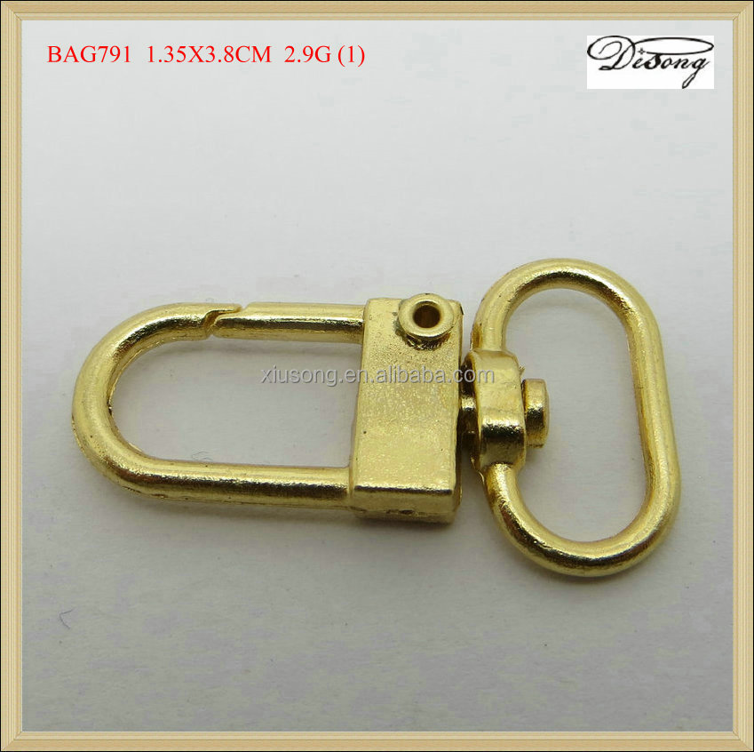 BAG791 gold metal key chain swivel snap hook 2015 new