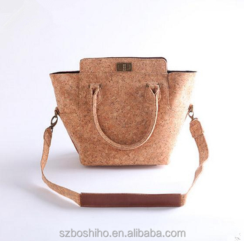 dc2313db23 cork bag portugal tote natural cork fabric leather handbags bags Boshiho