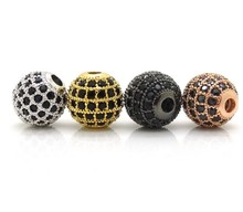 CZ Micro Pave 925 Sterling Silver Charms for Jewelry Making, Wholesale 925 Sterling Silver Pave Beads