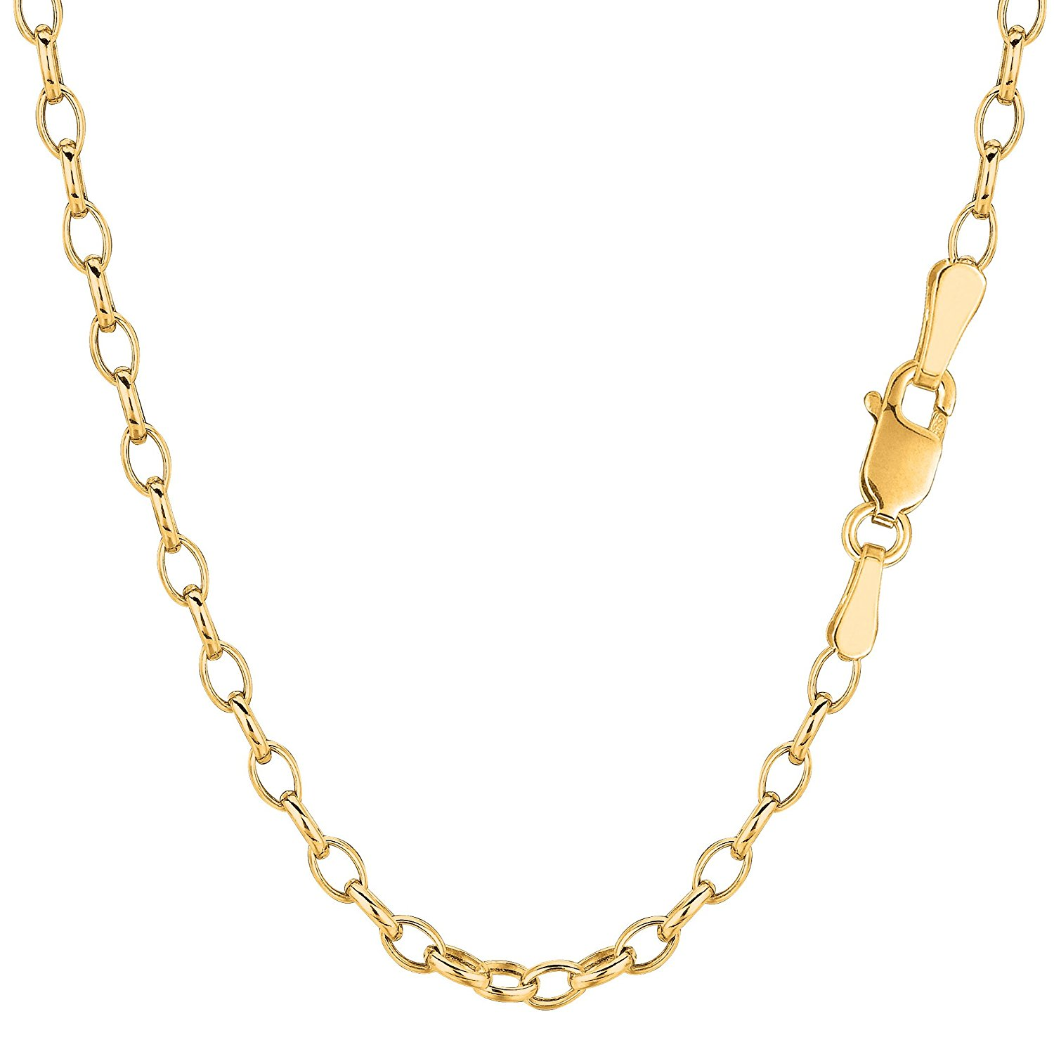 1//20 of 14k Flat Rolo Link Chain JOSCO 14k Gold Filled 1.2mm Necklace 14 to 36 inches