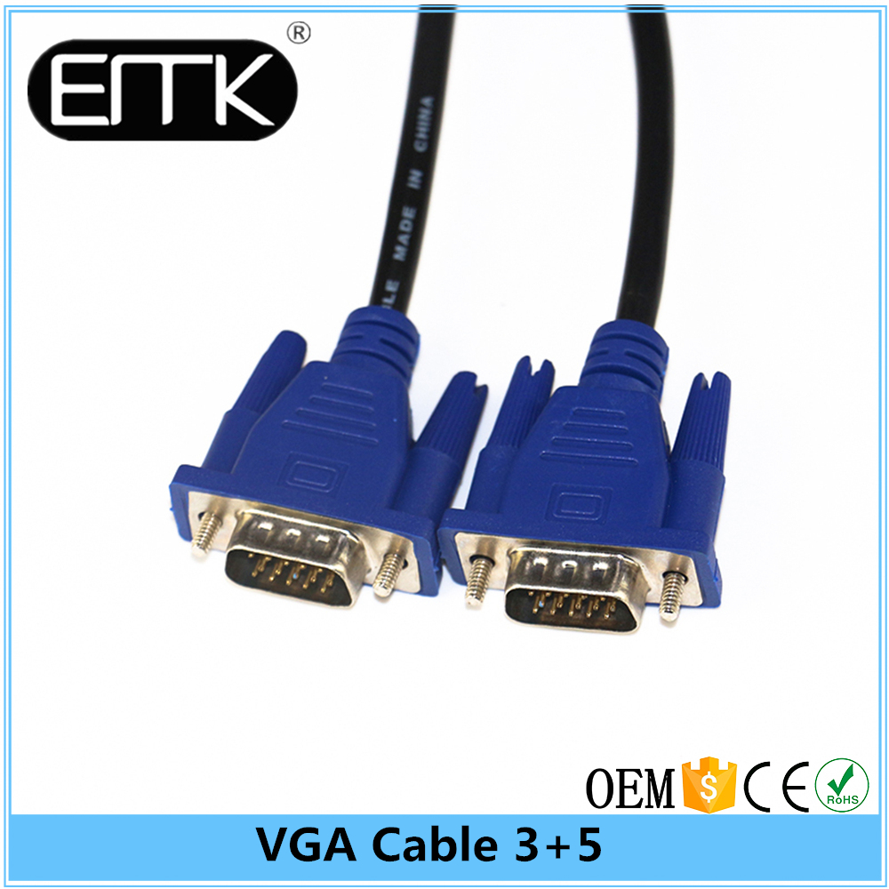 VGA Monitor Cable, Gold Plated Pins Bare Copper VGA Cable, 30 Feet (10Meter) HD15 Male to Male Long VGA Cable