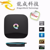 Q BOX TV Box Set Top Box 4K smart tv H.265 1000M Ethernet Android 5.1 Amlogic S905 Quad-core WiFi BT 4.0 Google Streaming TV