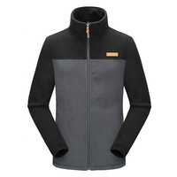 Custom fashion wholesale men's polartec reversible heavy fleece jacket