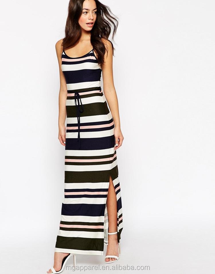 lange gestreepte jurk