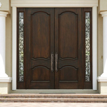 China Design Double Leaf Main Gate Wood Entrance Door Manufactures