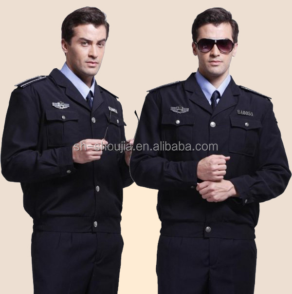 2014 New Design Security Guard Uniforms Black,High Quality ...