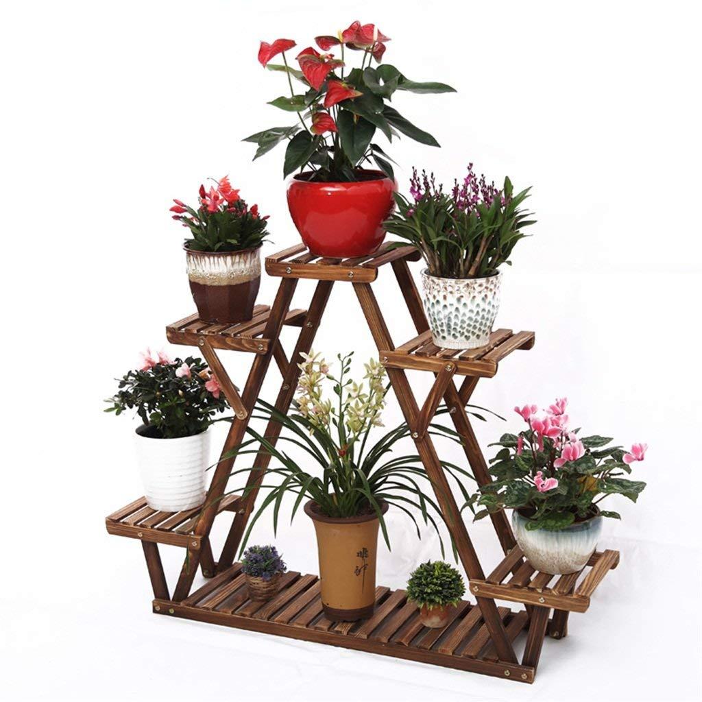 Get Quotations Flower Racks Wooden Standing Shelf Corner Shelves With Garden Plant Display For Pots Holder
