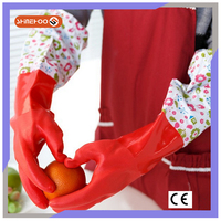 SHINEHOO Extra Long Sleeve Rubber Household Car Cleaning Gloves